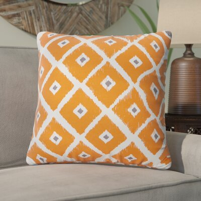Mervela Throw Pillow Color: Orange
