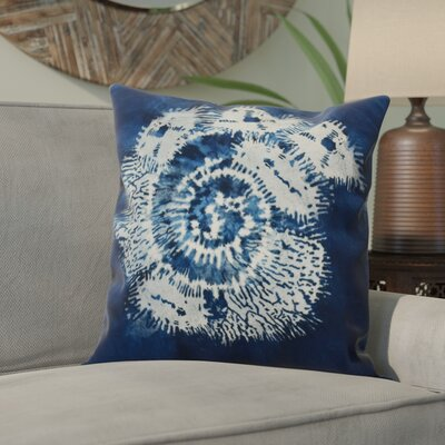 Viet Conch Throw Pillow Size: 26 H x 26 W, Color: Blue