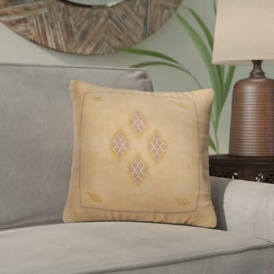 Stellan Kilim Throw Pillow Color: Orange/ Tan, Size: 24 x 24