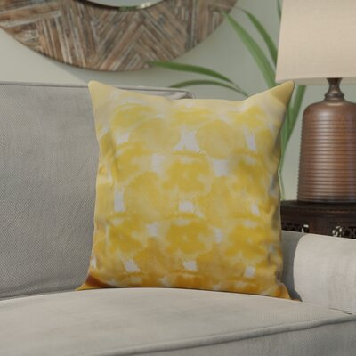 Viet Geometric Print Throw Pillow Size: 16 H x 16 W, Color: Yellow