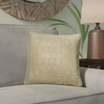 Cristo Accent Throw Pillow Color: Tan, Size: 16 x 16