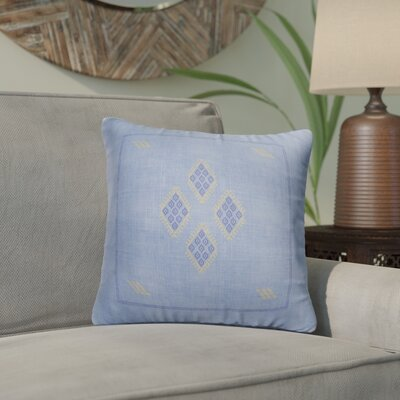 Stellan Kilim Throw Pillow Color: Blue/ Yellow, Size: 18 x 18