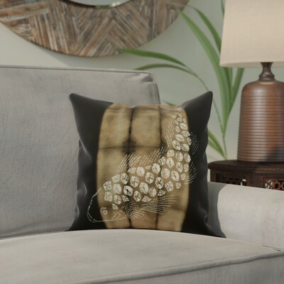 Viet Fish Pool Throw Pillow Size: 20 H x 20 W, Color: Brown