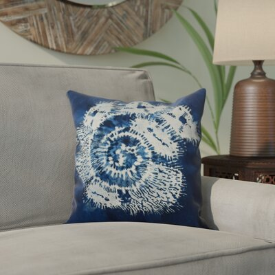 Viet Conch Indoor/Outdoor Throw Pillow Size: 18 H x 18 W, Color: Blue