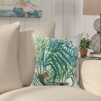 Jacque Palms Floral Print Outdoor Throw Pillow Size: 20 H x 20 W, Color: Blue