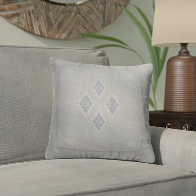 Stellan Kilim Throw Pillow Color: Grey/ Blue, Size: 18 x 18
