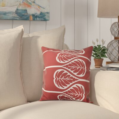 Hilde 2 Print Throw Pillow Size: 18 H x 18 W, Color: Coral