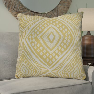 Hieu Square Throw Pillow Size: 18 H x 18 W x 3 D, Color: Yellow