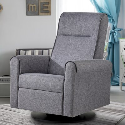 Nolita Upholstered Glider Swivel Manual Recliner with Built in Footrest D23463153140