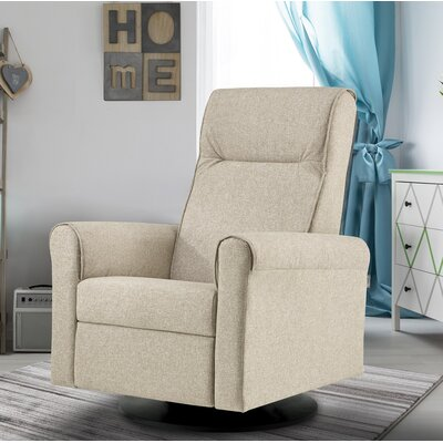 Nolita Upholstered Glider Swivel Manual Recliner with Built in Footrest Body Fabric: Harvest�Beige