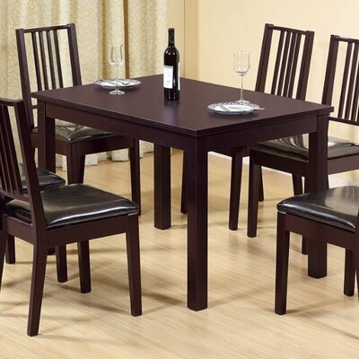 Vowell Wooden Dining Table Color: Dark Brown