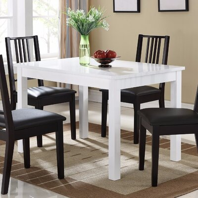 Vowell Wooden Dining Table Color: White