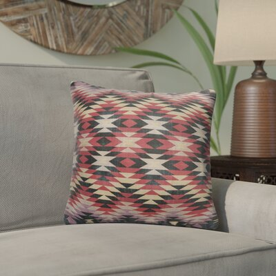 Bethesda Throw Pillow Color: Pink/ Red/ Grey, Size: 24 x 24