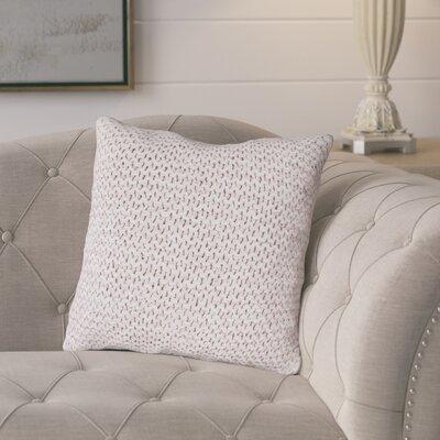Tobias Cotton Throw Pillow Color: Pink