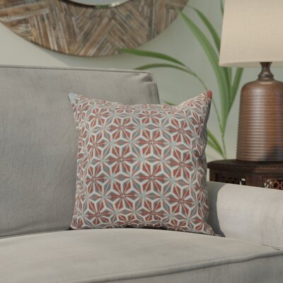 Viet Mosaic Throw Pillow Size: 16 H x 16 W, Color: Coral