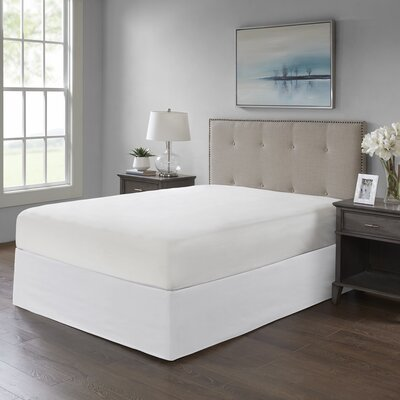 Simple Fit Wrap Around Adjustable Bed Skirt Color: White