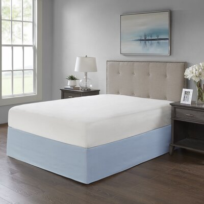Simple Fit Wrap Around Adjustable Bed Skirt Color: Blue