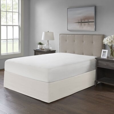 Simple Fit Wrap Around Adjustable Bed Skirt Color: Ivory
