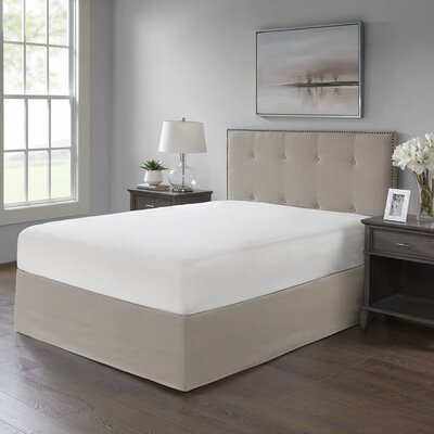 Simple Fit Wrap Around Adjustable Bed Skirt Color: Khaki