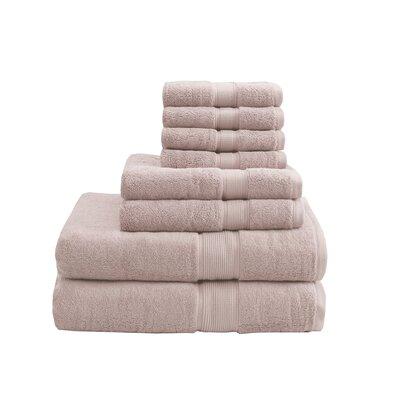 8 Piece Towel Set Color: Blush