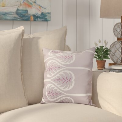 Hilde 1 Floral Print Throw Pillow Size: 16 H x 16 W, Color: Lavender