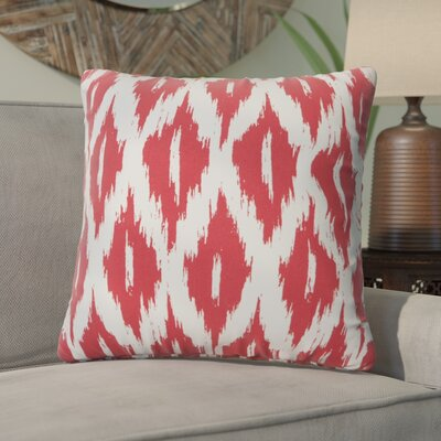 Maribel Throw Pillow Color: Red