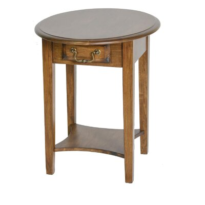 Seger Rounded End Table with Drawer