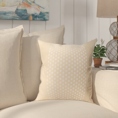 Sergios Cotton Pillow Cover Color: Beige