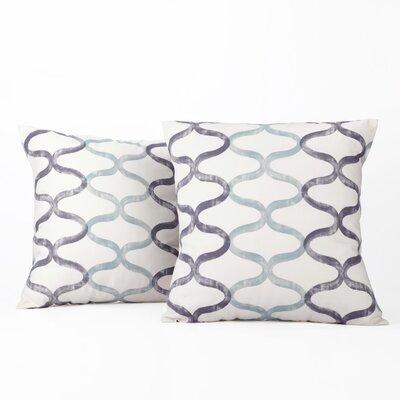 Balfour 100% Cotton Pillow Cover Color: Blue