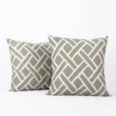 Amandier 100% Cotton Pillow Cover Color: Taupe