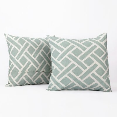 Amandier 100% Cotton Pillow Cover Color: Aqua