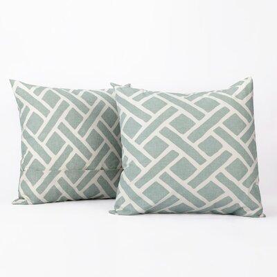 Amandier 100% Cotton Pillow Cover Color: Aqua