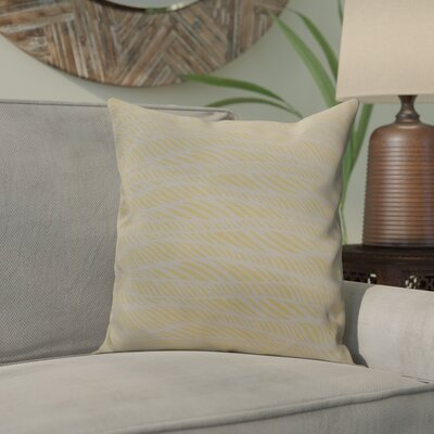 Viet Rolling Waves Throw Pillow Size: 16 H x 16 W, Color: Yellow