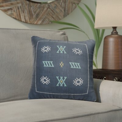 Touete Accent Throw Pillow Color: Blue/ Navy, Size: 16 x 16