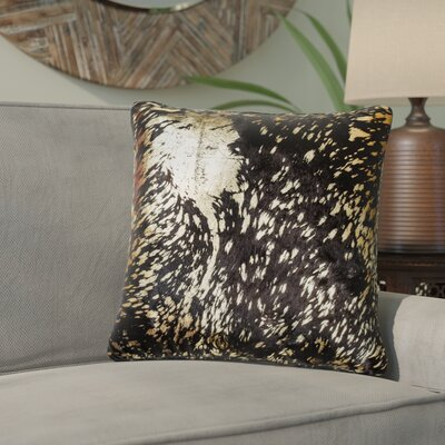 Graham Naturally Smooth Leather Throw Pillow Color: Chocolate/Gold