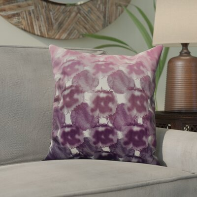 Viet Geometric Print Throw Pillow Size: 18 H x 18 W, Color: Purple