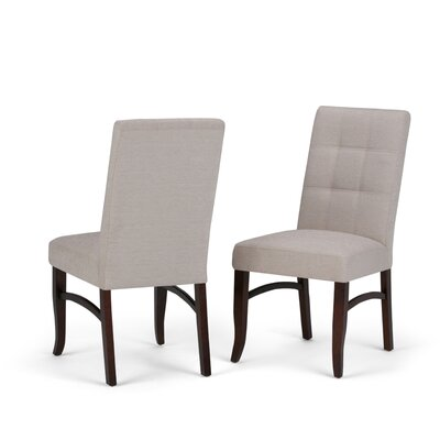 Ezra Deluxe Upholstered Dining Chair Upholstery Color: Platinum