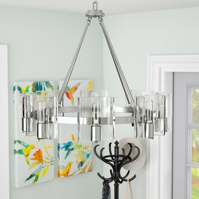 Rodrigues 8-Light Shaded Chandelier