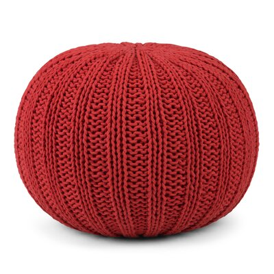 Shelby Pouf Upholstery: Candy Red