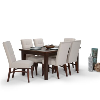 Ezra 7 Piece Dining Set Chair Color: Platinum