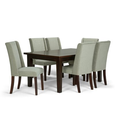 Sotherby 7 Piece Dining Set Chair Color: Platinum