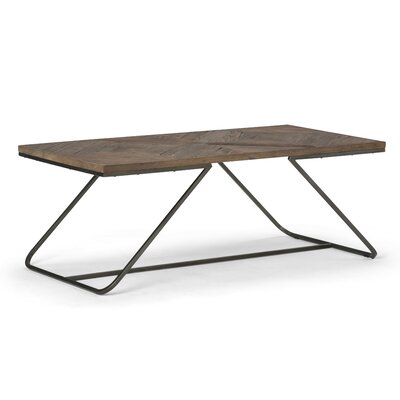 Hailey Coffee Table Size: 18 H x 48 W x 24 D