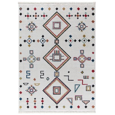 Hervey White Area Rug Rug Size: Rectangle 78 x 102