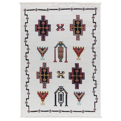 Hervey White Area Rug Rug Size: Rectangle 39 x 52