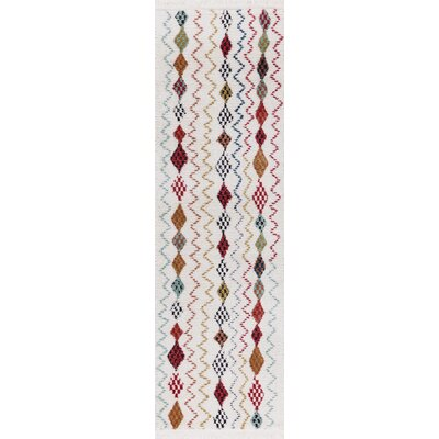 Hervey White Area Rug Rug Size: Runner 23 x 72