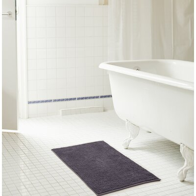 Bowden Short Pile Chenille Bath Rug Color: Charcoal, Size: 17 x 24