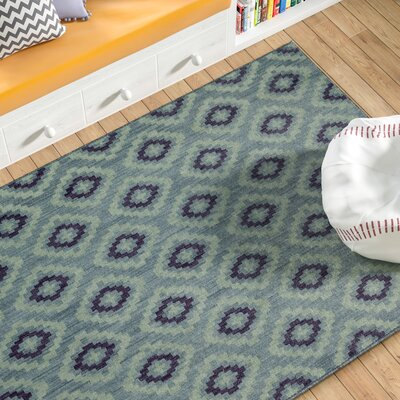 Paulette Blue Area Rug Rug Size: Rectangle 53 x 710