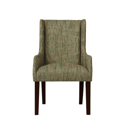 Hargraves Wingback Chair Upholstery: Brown/Gray