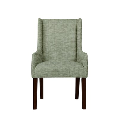 Trigg Wingback Chair Upholstery: Blue