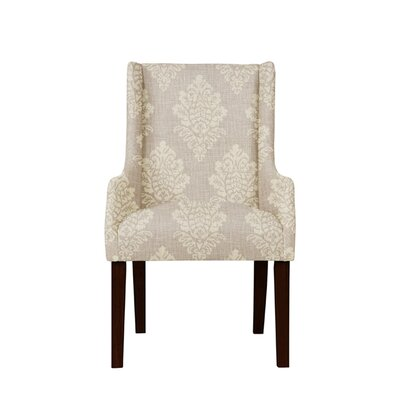Trigg Wingback Chair Upholstery: Prey Fabric Taupe